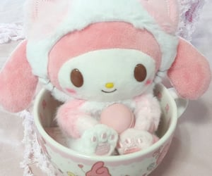 my melody, plush, and kawaii image