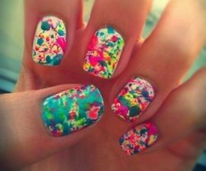 colourful, nails, and florals image