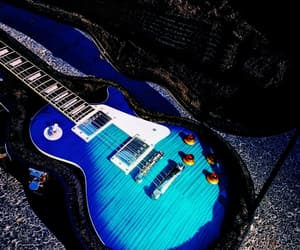blue, gibson, and guitars image