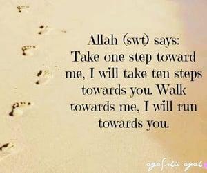 allah, islam, and step image