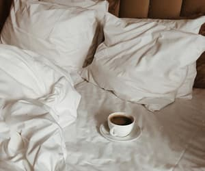 coffee, aesthetic, and bed image