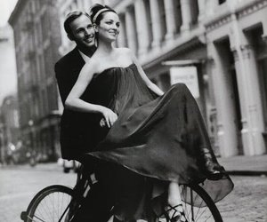 bicycle, love, and black and white image