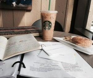 book, starbucks, and study image