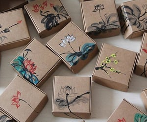 art, painting, and box image