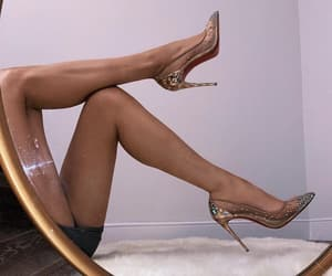 christian louboutin, heels, and legs image