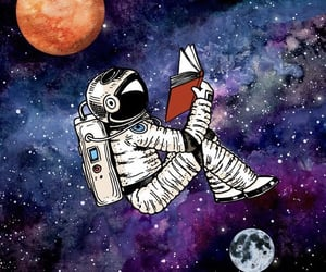 book, read, and space image