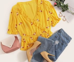 yellow blouse look image