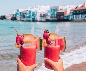 drink and beach image