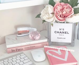 chanel, pink, and white image