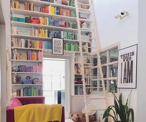 home, book, and decor image