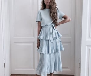 girl, fashion, and blue image