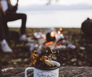 coffee, adventure, and fall image