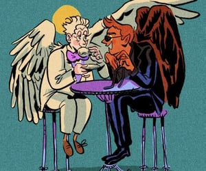 aziraphale, crowley, and good omens image