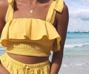 yellow, beach, and summer image