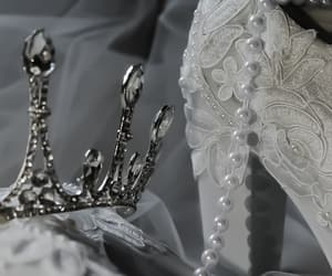 bride, crown, and detail image