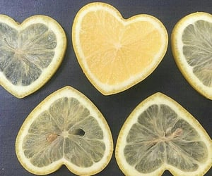 hearts, lemons, and yellow image