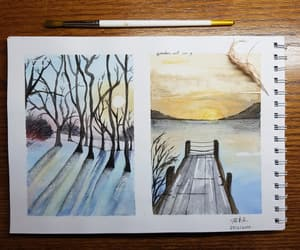 art, drawing, and watercolor image