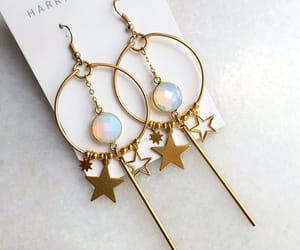 celestial, earrings, and jewelry image