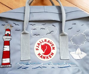 aesthetic, blue, and fjallraven kanken image