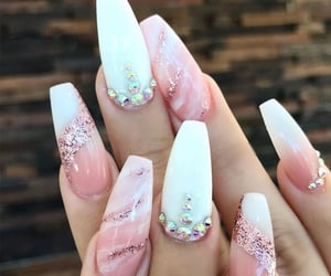 nails, white, and design image