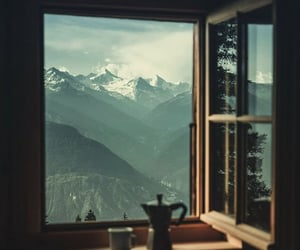 mountains and coffee image