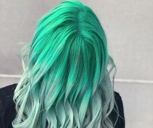 hair, dye, and green image