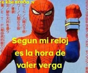 meme, reloj, and spider man image
