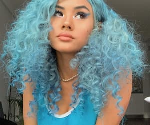 beauty, blue hair, and colored hair image