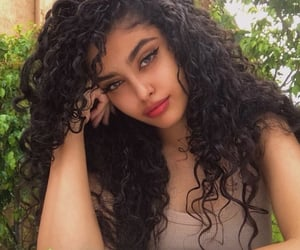 girl, aesthetic, and curly hair image