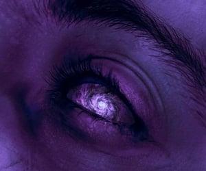 galaxy, purple, and eye image