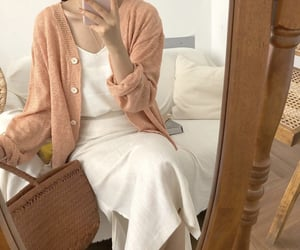 cardigan, fashion, and maxi dress image