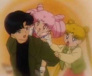 anime, chibi tsukino, and family image