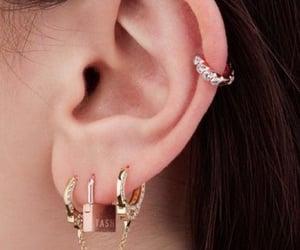 earrings, piercing, and Piercings image
