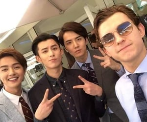 tom holland, darren chen, and dylan wang image