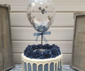fiesta, baby shower, and pastel con globos image