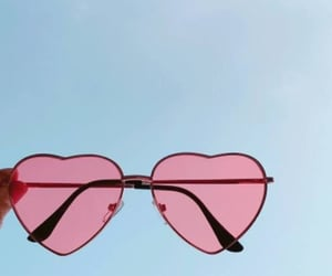 pink, sunglasses, and aesthetic image