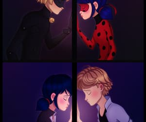 ladybug, Adrien, and marinette image