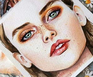 drawing, eyes, and paint image