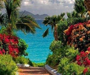 beach, resort, and sea image