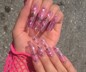 nails, pink, and carefree image