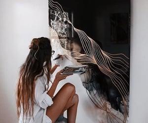 art, girl, and photo image