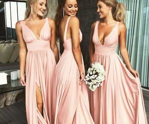 wedding, bridesmaid dress, and dress image