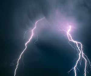 sky, lightning, and thunder image