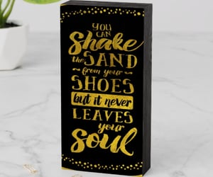 black, gold, and quotes image