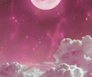 moon, pink, and wallpaper image