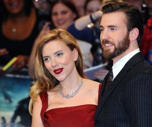 chris evans, Marvel, and Scarlett Johansson image