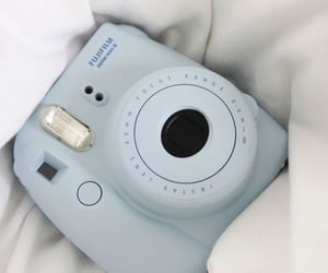 blue, polaroid, and aesthetic image