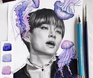 fanart, kpop, and jellyfish image