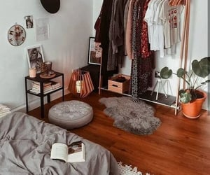 bedroom, home, and closet image