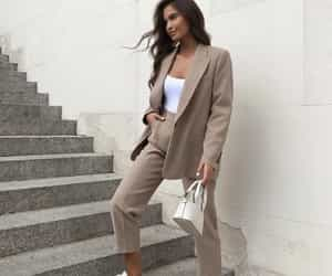 blazer, fashion, and woman girl image